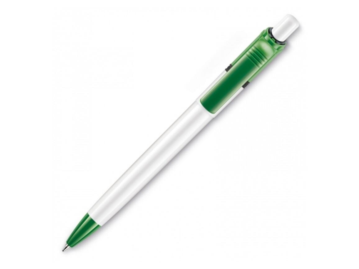 Kugelschreiber Ducal Colour hardcolour - Weiss / Grün bedrucken, Art.-Nr. LT80909-N0131
