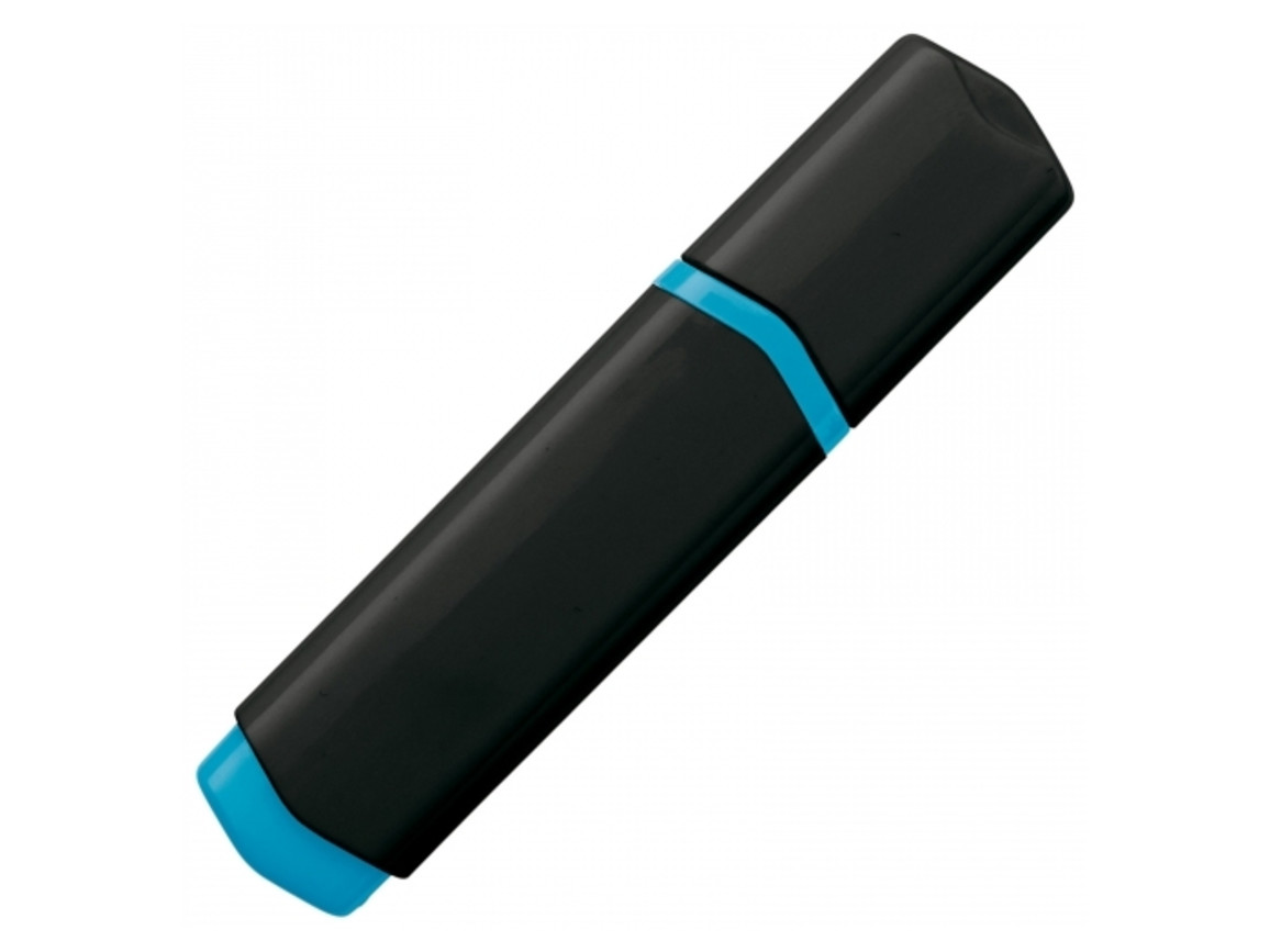 Textmarker - Schwarz / Blau bedrucken, Art.-Nr. LT81283-N0211