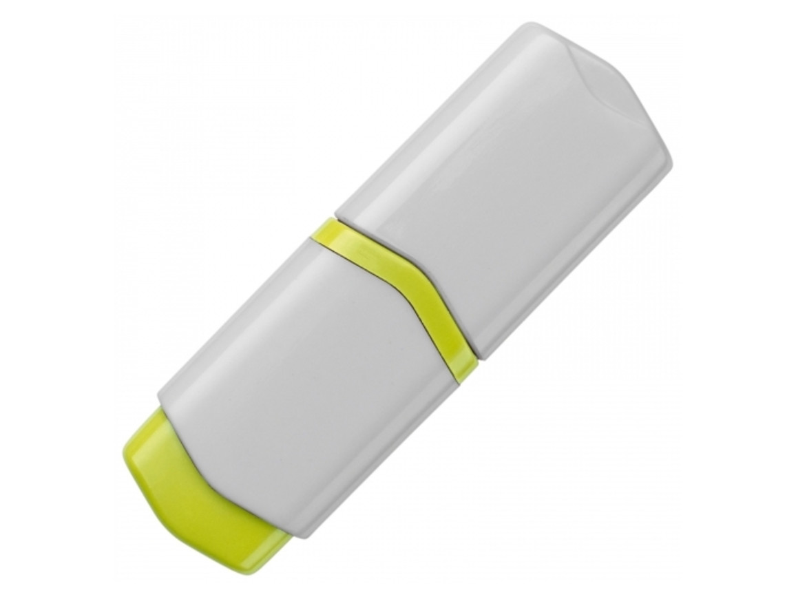 Textmarker Mini - Weiss / Gelb bedrucken, Art.-Nr. LT81284-N0141