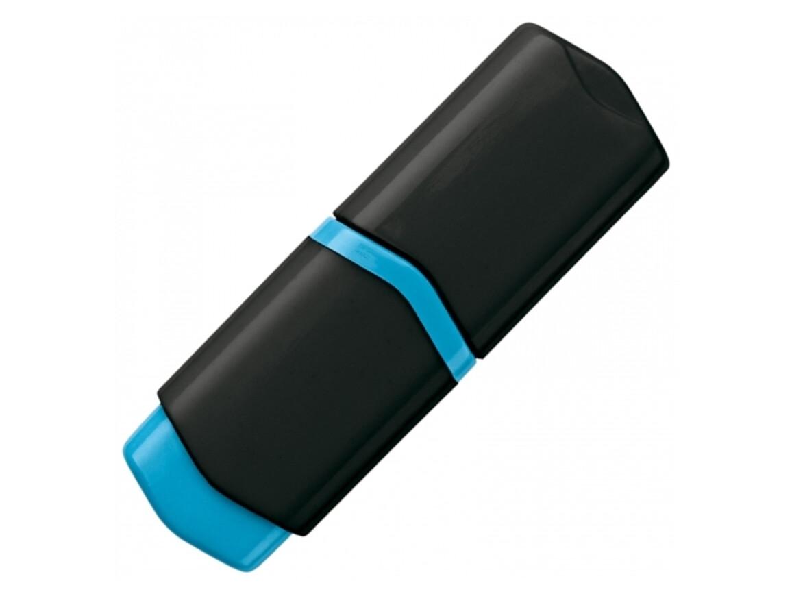Textmarker Mini - Schwarz / Blau bedrucken, Art.-Nr. LT81284-N0211