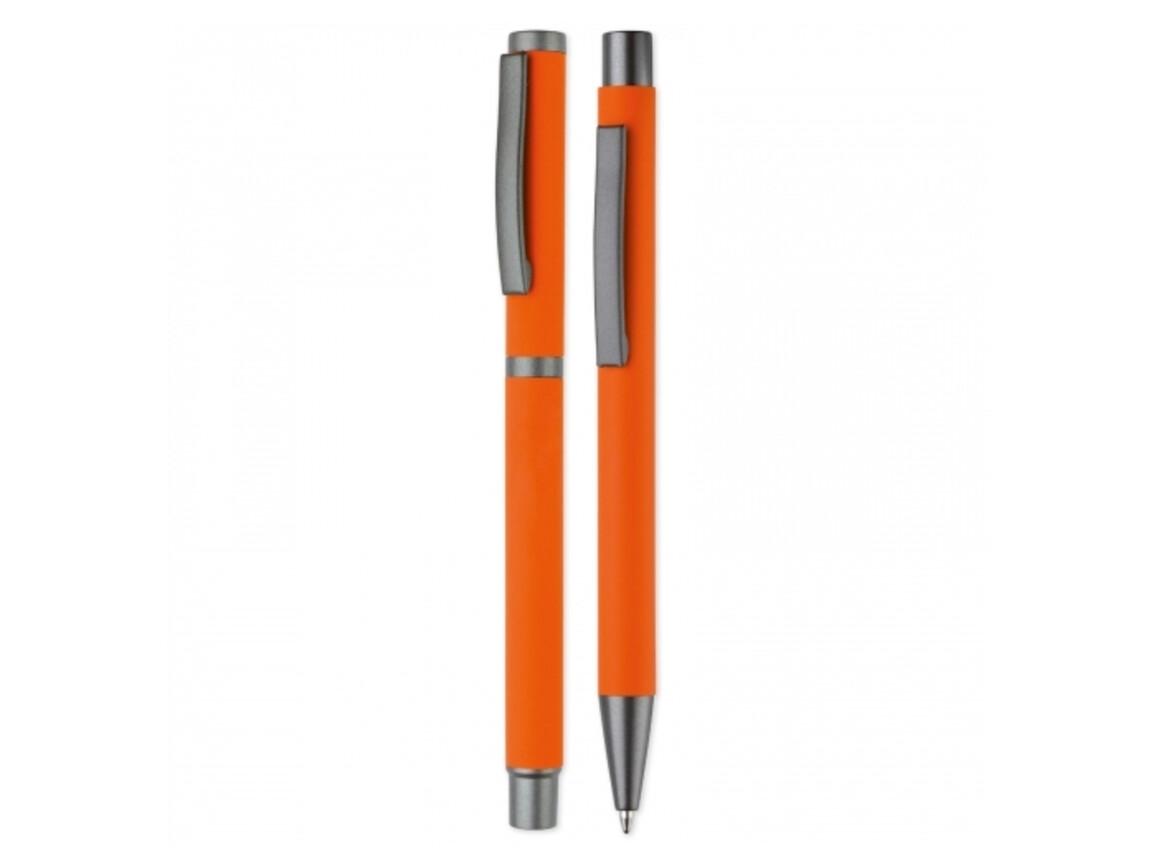 Set Metall Kugelschreiber New York - Orange bedrucken, Art.-Nr. LT82912-N0026