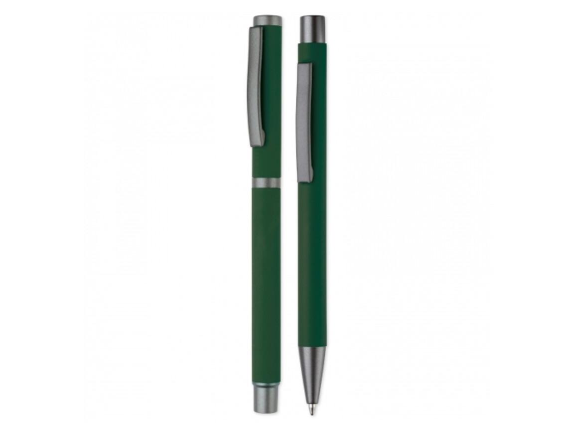 Set Metall Kugelschreiber New York - Dunkelgrün bedrucken, Art.-Nr. LT82912-N0030