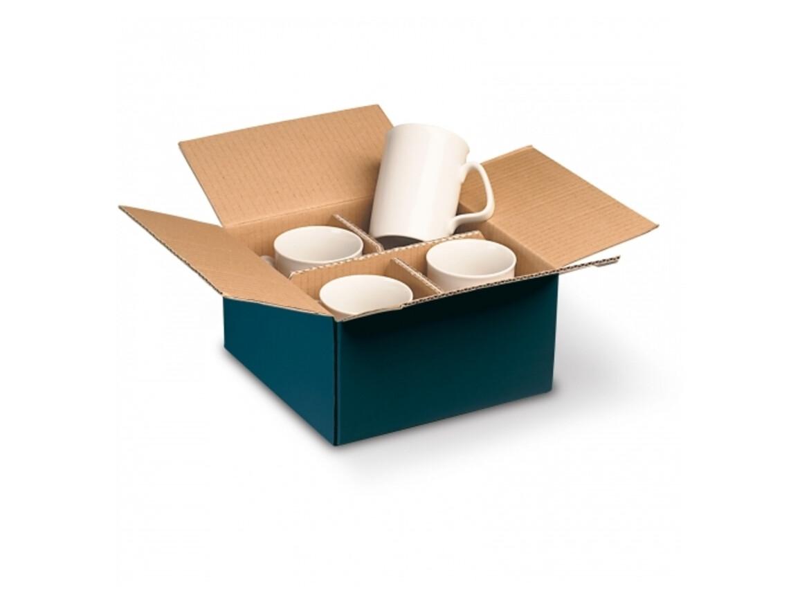 Verpackung für 4 Tassen - Dunkelblau bedrucken, Art.-Nr. LT83205-N0010