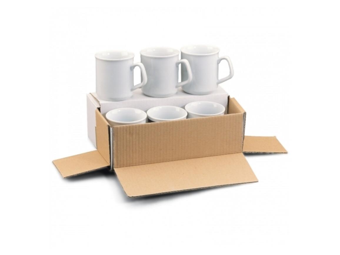 Verpackung für 6 Tassen - Weiss bedrucken, Art.-Nr. LT83206-N0001