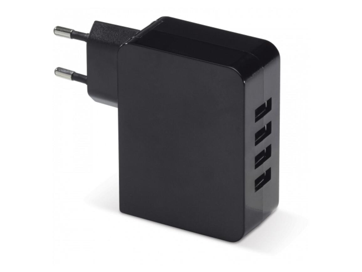 USB Adapter 2.4A - Schwarz bedrucken, Art.-Nr. LT91181-N0002
