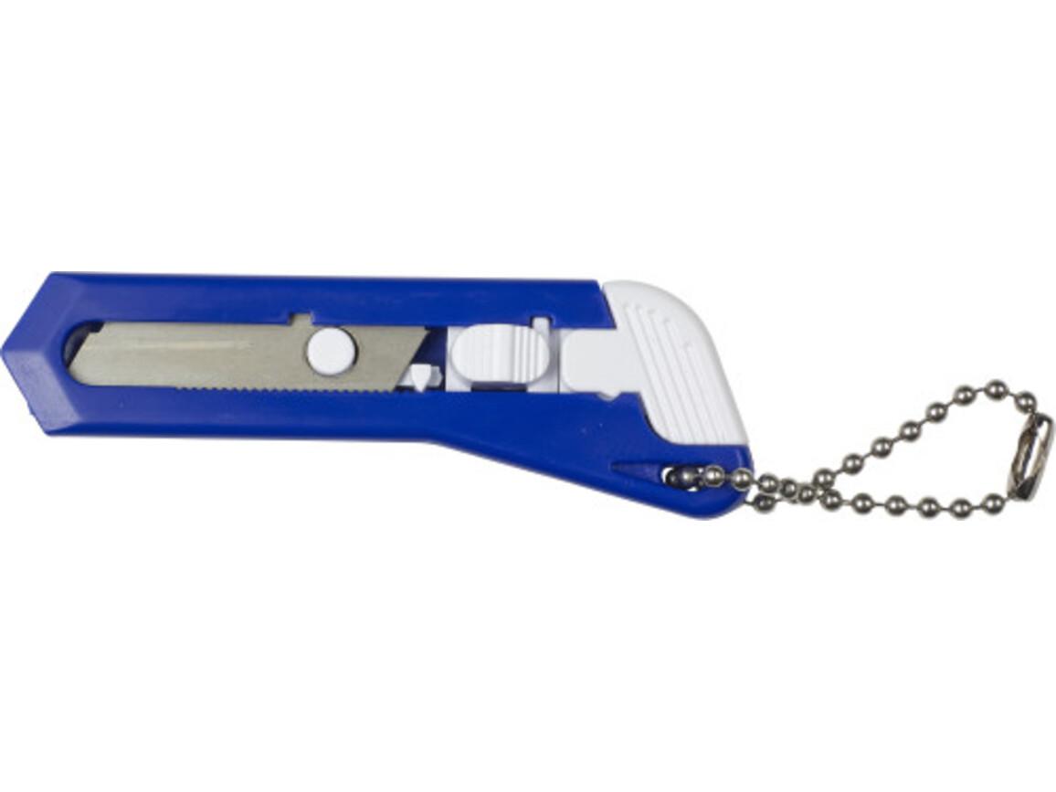 Kleines Cuttermesser 'Cut It' aus Kunststoff – Blau bedrucken, Art.-Nr. 005999999_8368