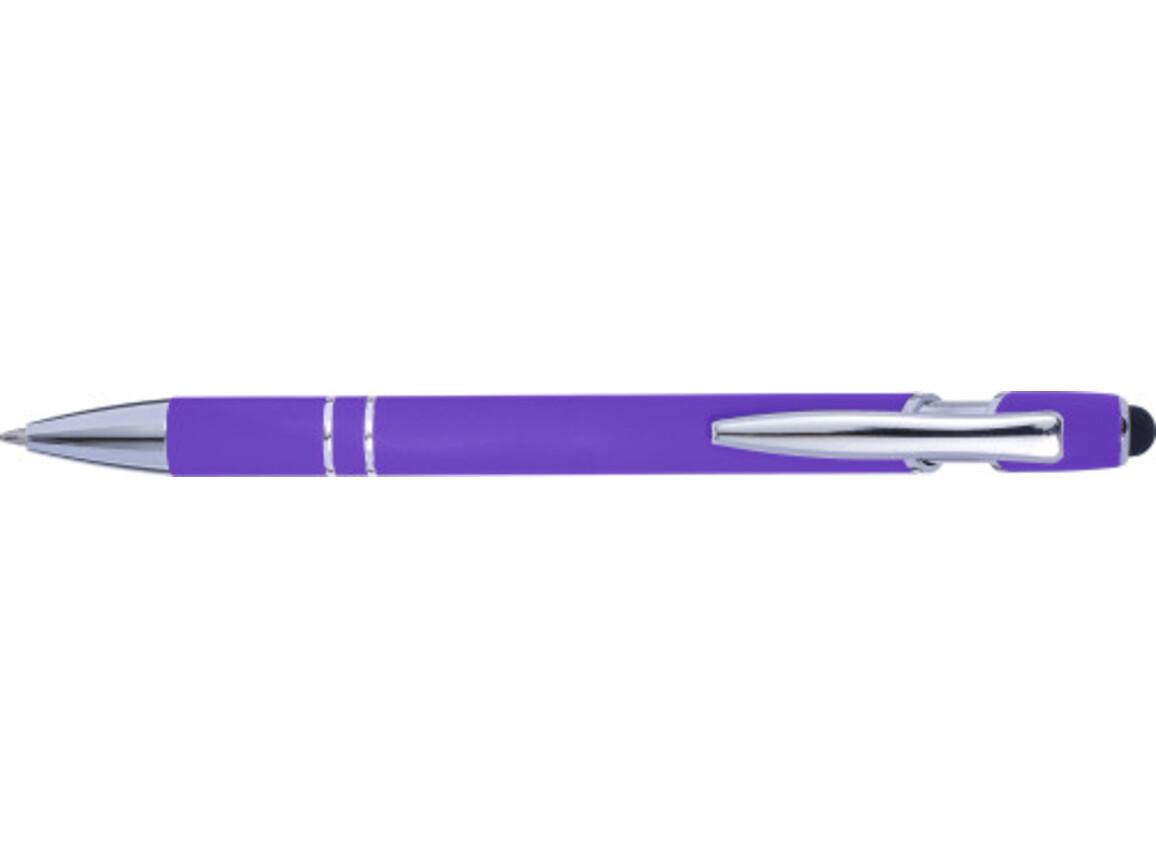 Kugelschreiber 'Wangerooge' mit Touchfunktion – Violett bedrucken, Art.-Nr. 024999999_8462