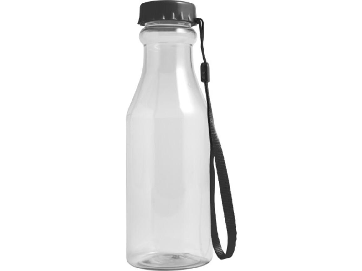 Trinkflasche 'Mary' aus Kunststoff – Schwarz bedrucken, Art.-Nr. 001999999_7835