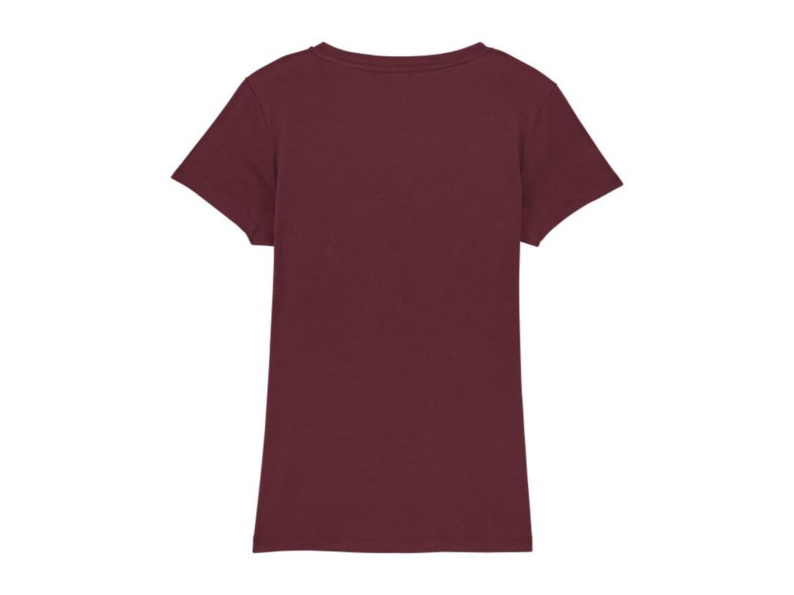 Damen T-Shirt mit V-Ausschnitt - Burgundy - XXL bedrucken, Art.-Nr. STTW023C2442X