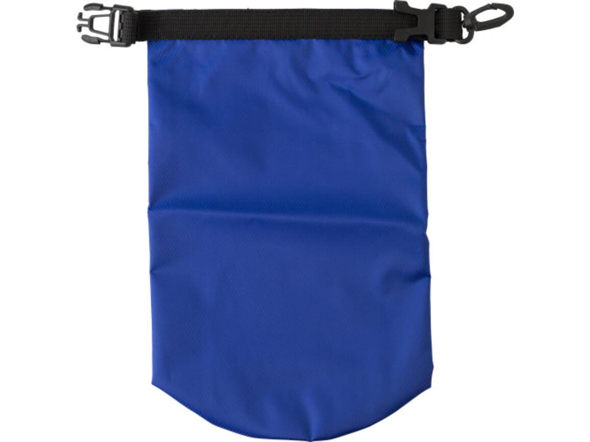 Wasserfeste Strandtasche 'Paddle' aus Polyester – Kobaltblau bedrucken, Art.-Nr. 023999999_8565