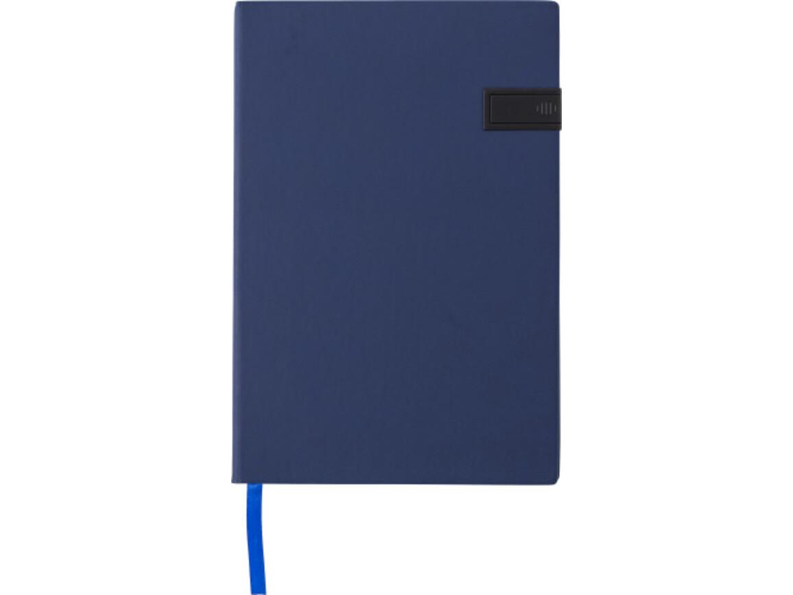 Notizbuch 'Target' aus PU – Blau bedrucken, Art.-Nr. 005999040_8582