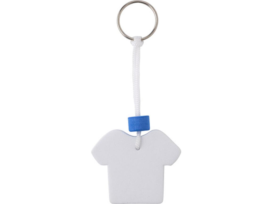 Schlüsselanhänger 'Shirt' aus EVA – Weiß bedrucken, Art.-Nr. 002999999_8693