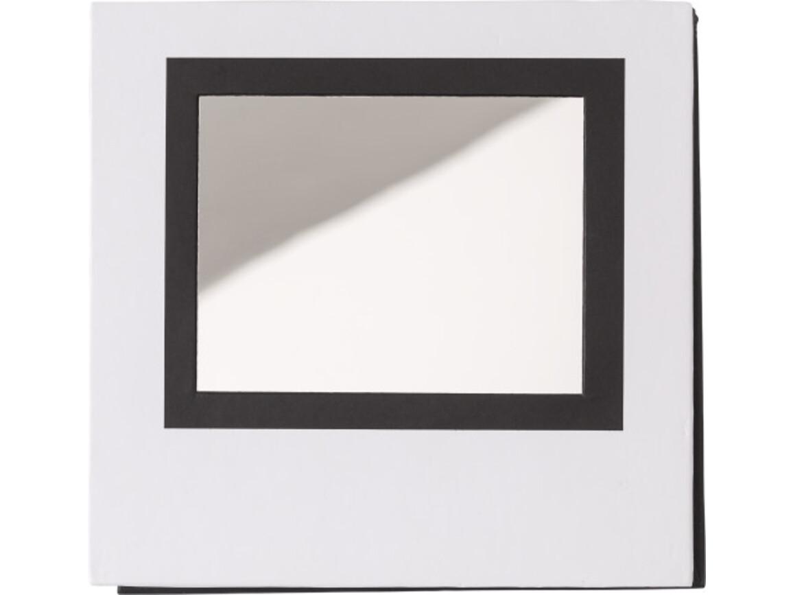 Notizblock 'Grace' mit Spiegel – Weiß bedrucken, Art.-Nr. 002999999_8792