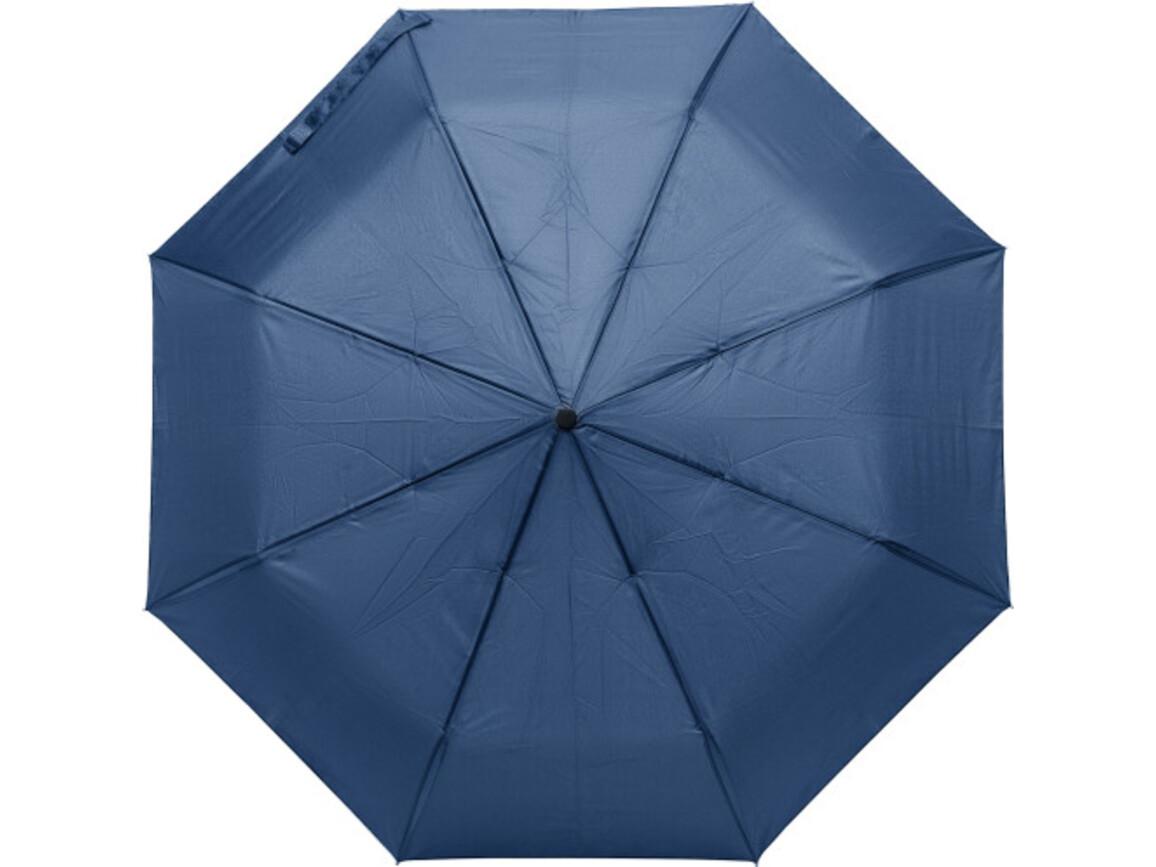 Regenschirm 'Tine' aus Pongee-Seide – Blau bedrucken, Art.-Nr. 005999999_8891