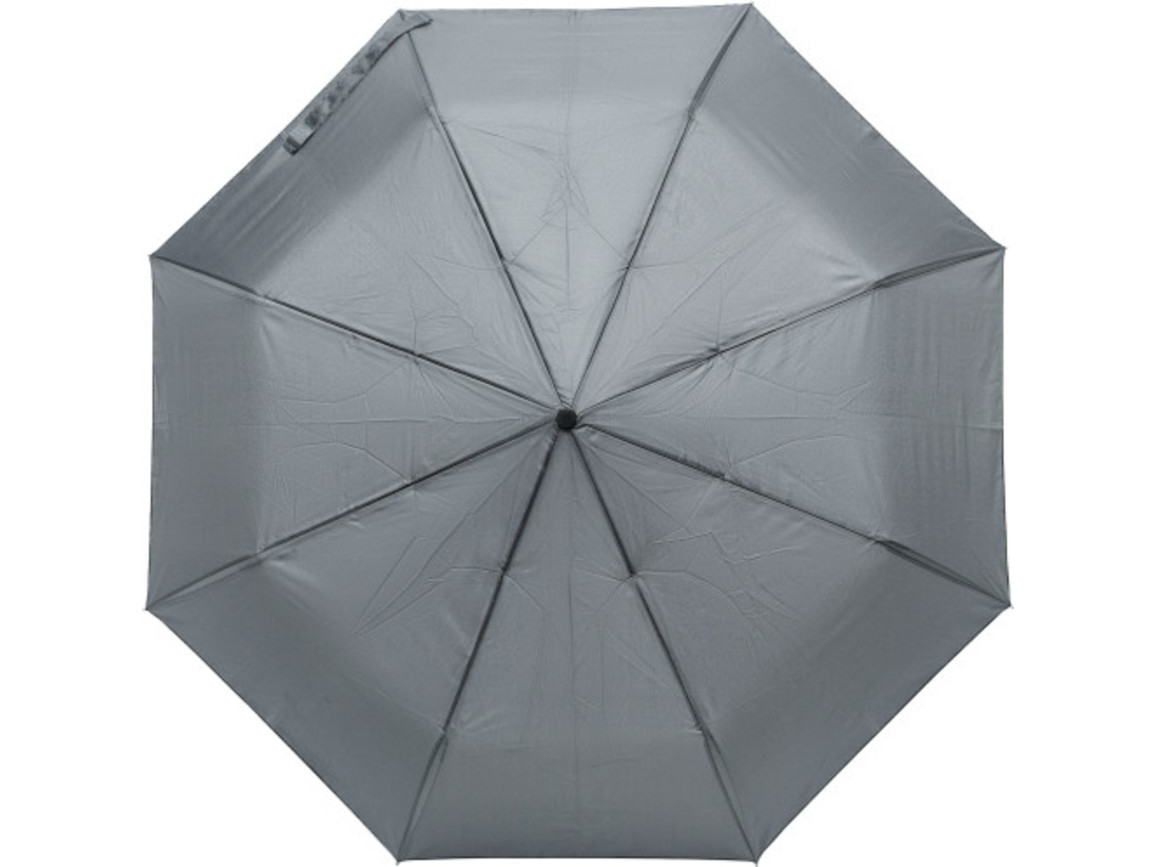 Regenschirm 'Tine' aus Pongee-Seide – Grau bedrucken, Art.-Nr. 003999999_8891