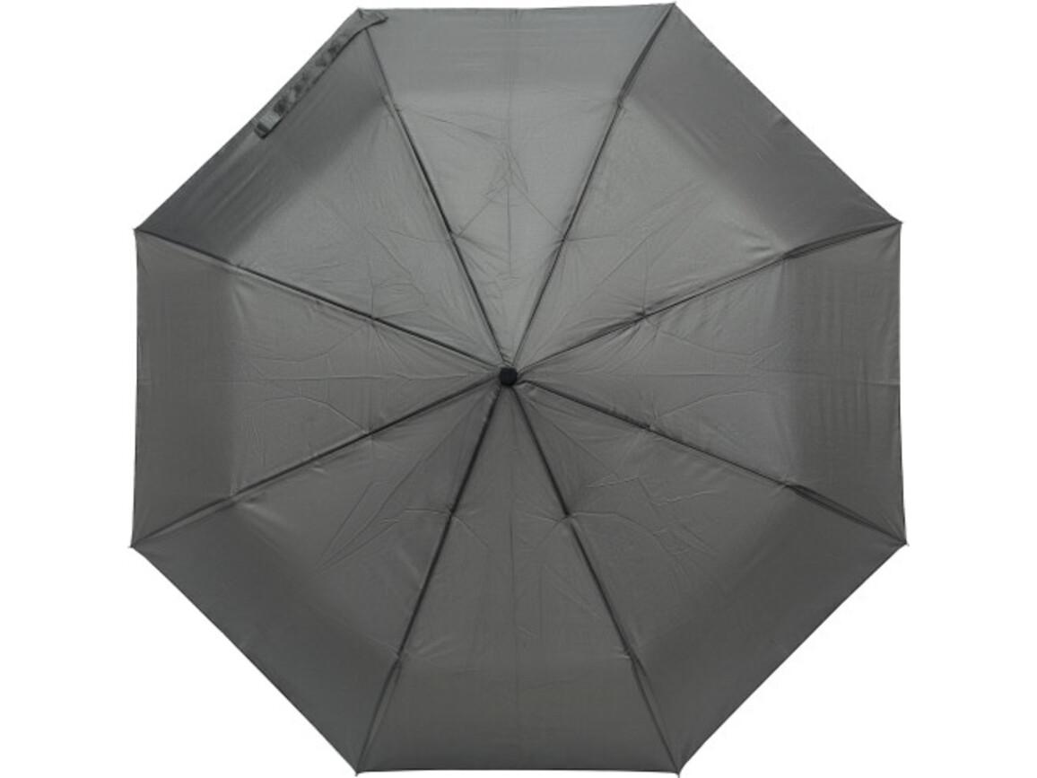 Regenschirm 'Tine' aus Pongee-Seide – Schwarz bedrucken, Art.-Nr. 001999999_8891