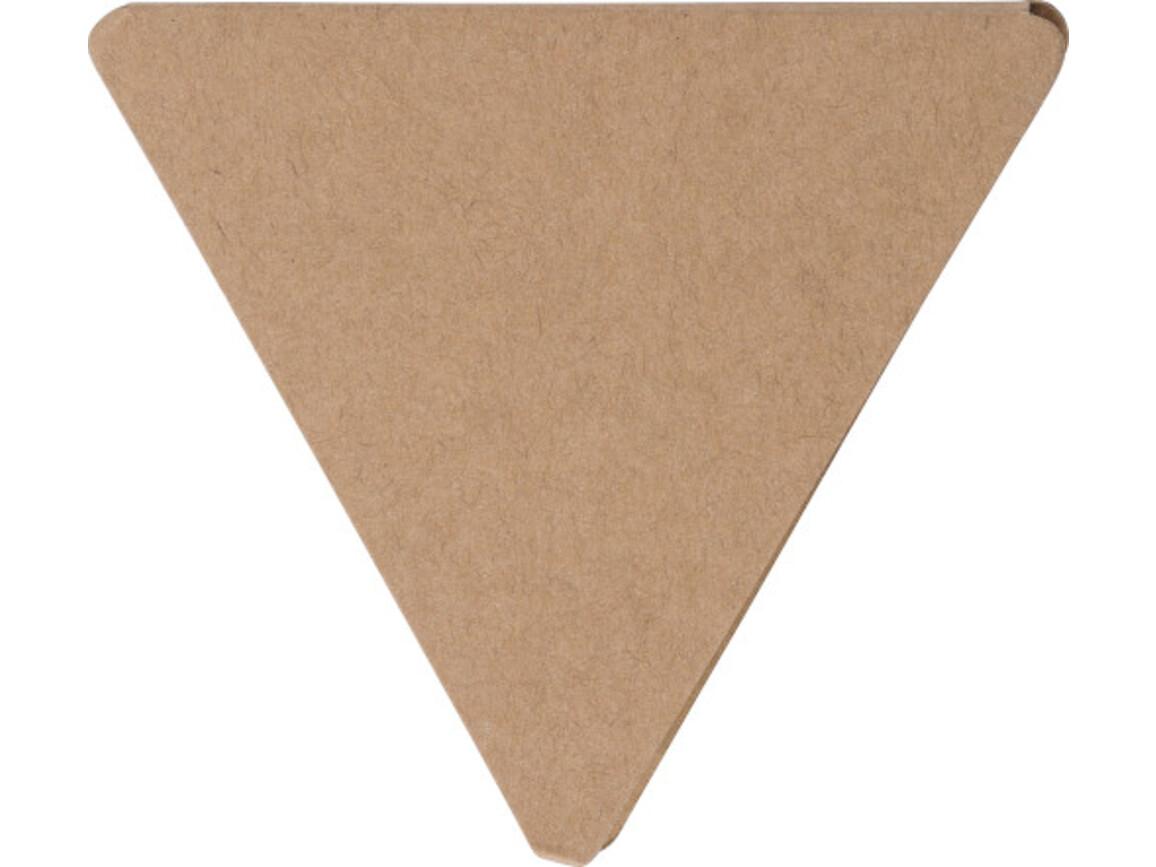 Haftnotizen 'Tri' aus Papier – Braun bedrucken, Art.-Nr. 011999999_8990