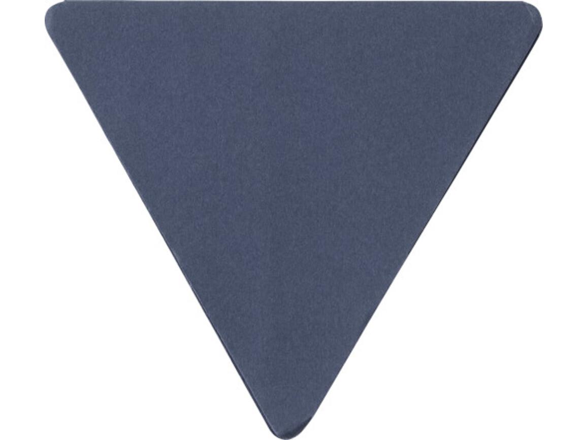 Haftnotizen 'Tri' aus Papier – Blau bedrucken, Art.-Nr. 005999999_8990
