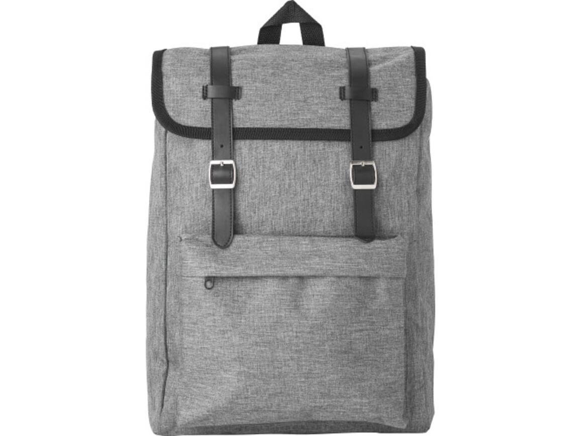Rucksack 'Learner' aus Polyester – Grau bedrucken, Art.-Nr. 003999999_9170