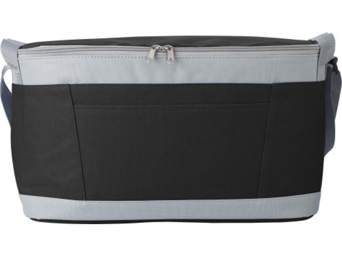Kühltasche 'Eisprinz' aus Polyester – Schwarz bedrucken, Art.-Nr. 001999999_9171