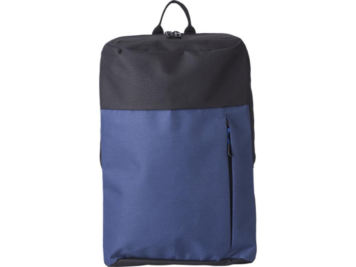 Rucksack 'Martin' aus Polyester – Blau bedrucken, Art.-Nr. 005999999_9185