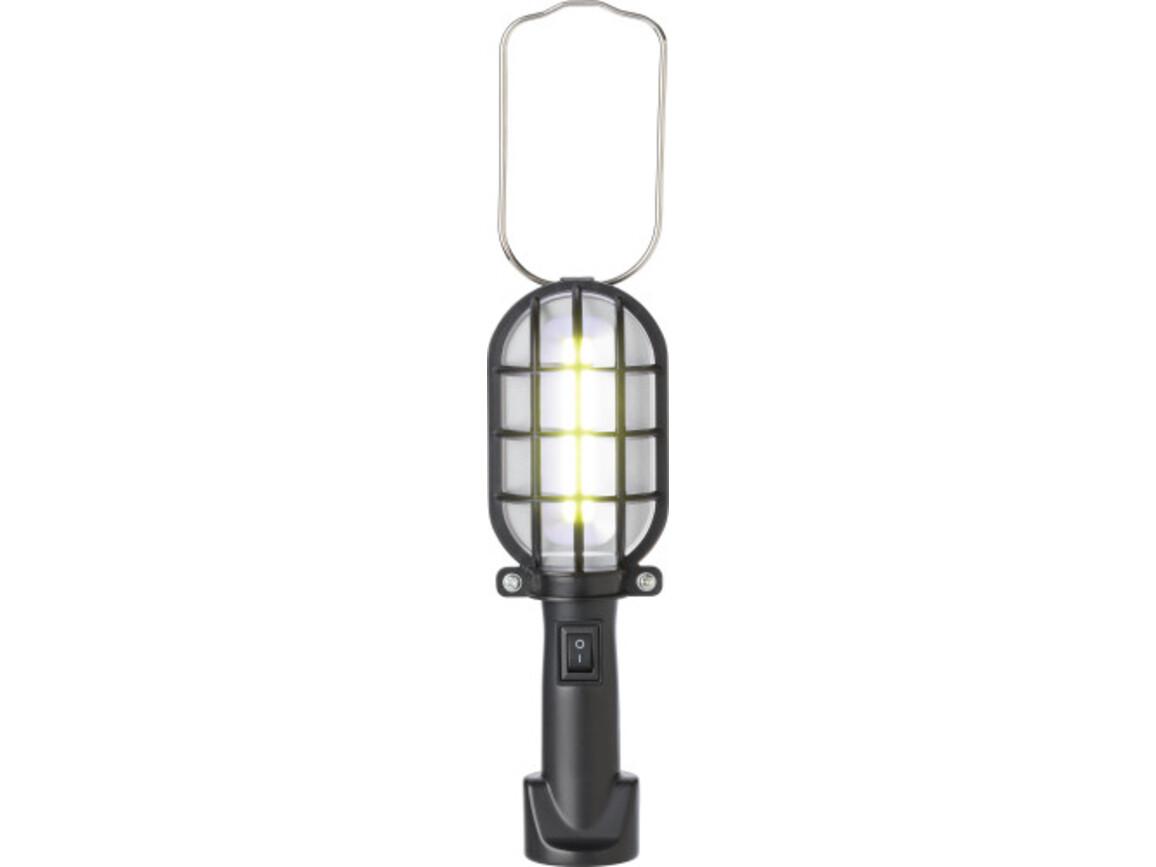 Arbeitslampe 'Bright' aus Kunststoff – Schwarz bedrucken, Art.-Nr. 001999999_9194