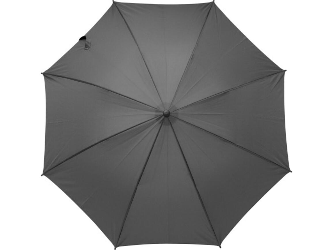 Regenschirm 'Kuppel' aus Polyester – Schwarz bedrucken, Art.-Nr. 001999999_9252