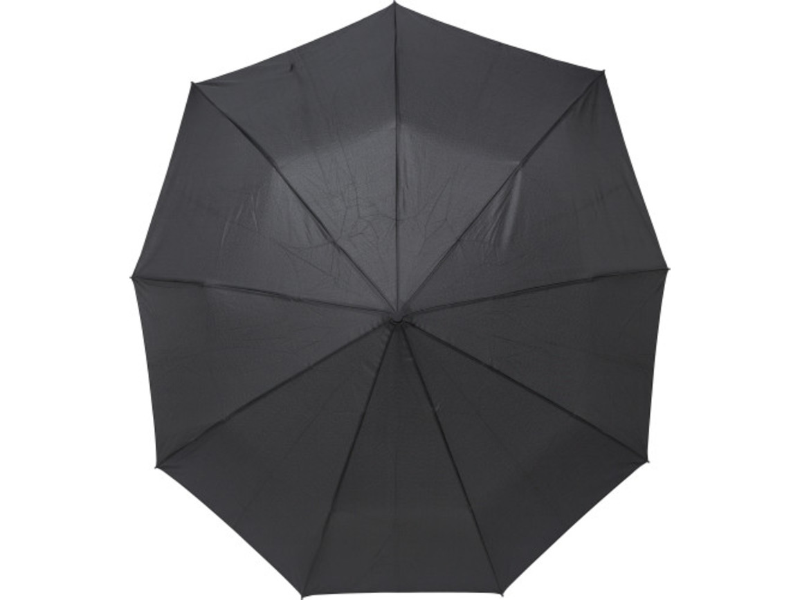 Regenschirm 'Lee' aus Pongee-Seide – Schwarz bedrucken, Art.-Nr. 001999999_9256