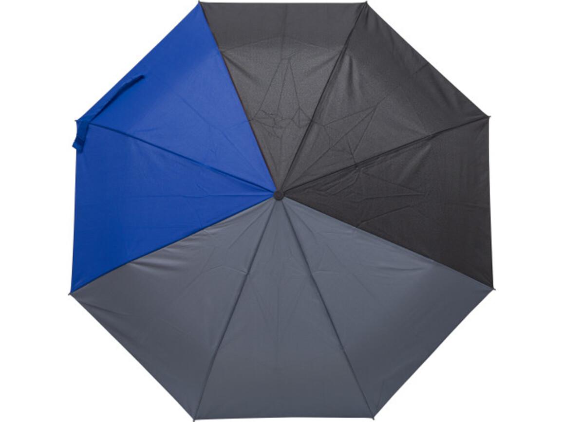 Regenschirm 'Quarter' aus Pongee-Seide – Kobaltblau bedrucken, Art.-Nr. 023999999_9257