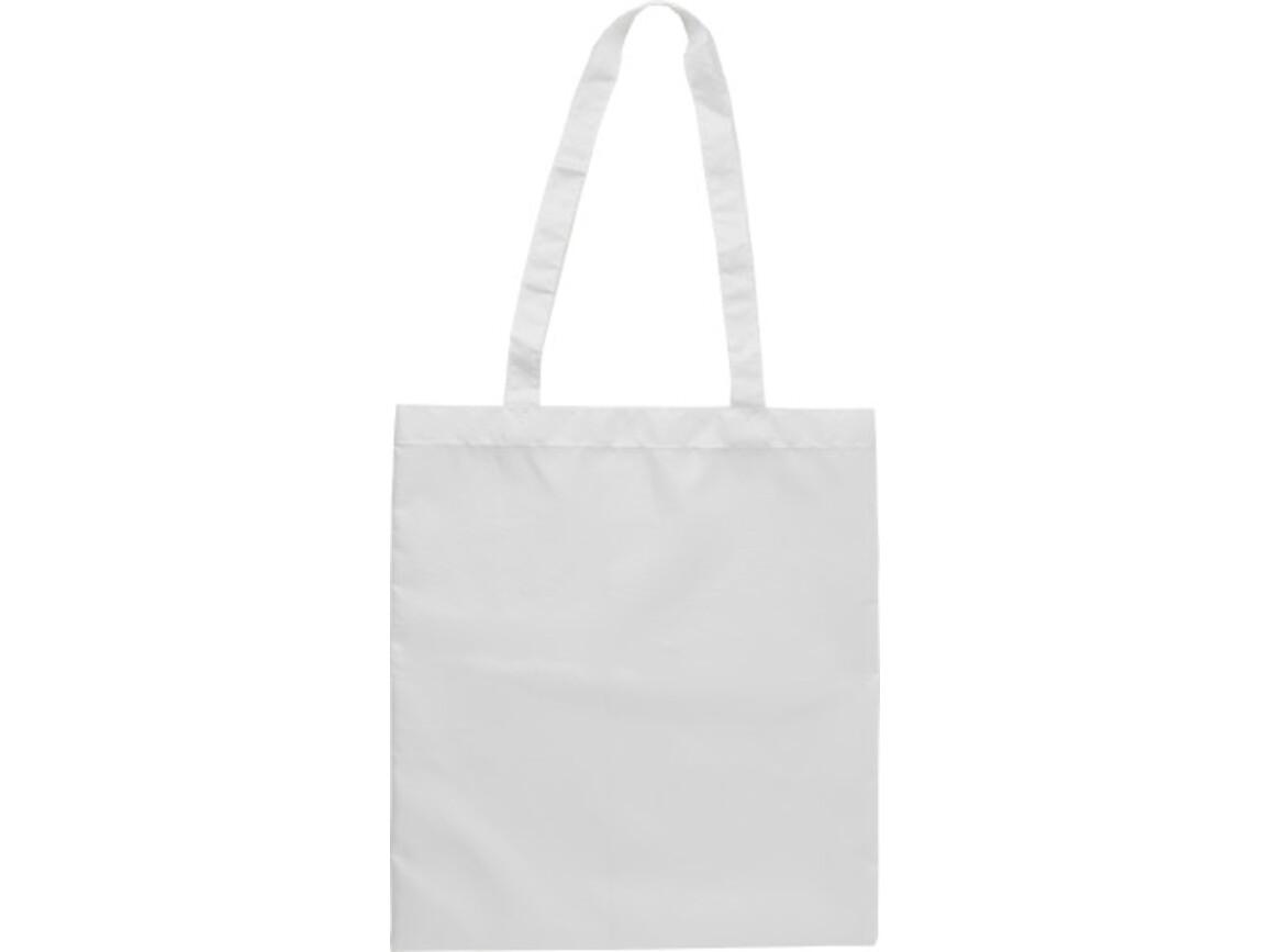 Einkaufstasche 'Peaches' aus RPET-Polyester – Weiß bedrucken, Art.-Nr. 002999999_9262