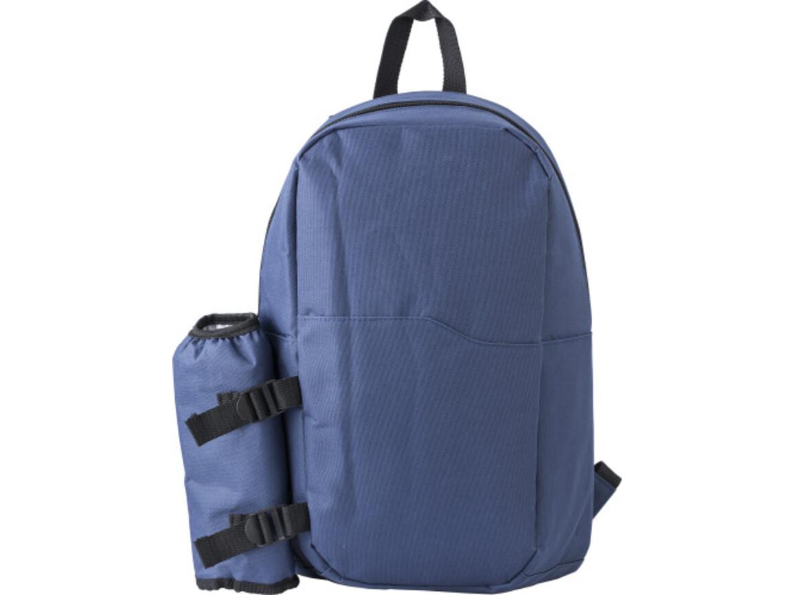 Kühlrucksack 'Icecold' aus Polyester – Blau bedrucken, Art.-Nr. 005999999_9266
