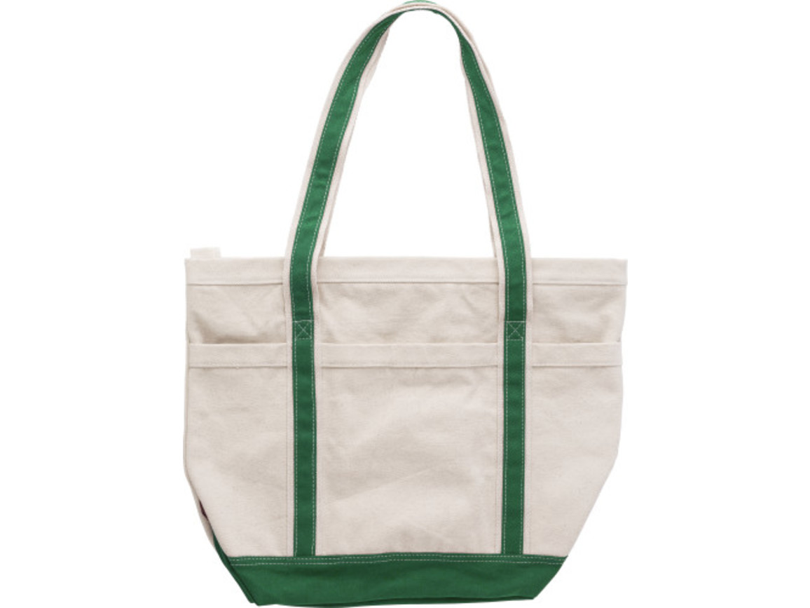 Einkaufstasche 'Cotton Shopper' aus Baumwolle – Grün bedrucken, Art.-Nr. 004999999_9267
