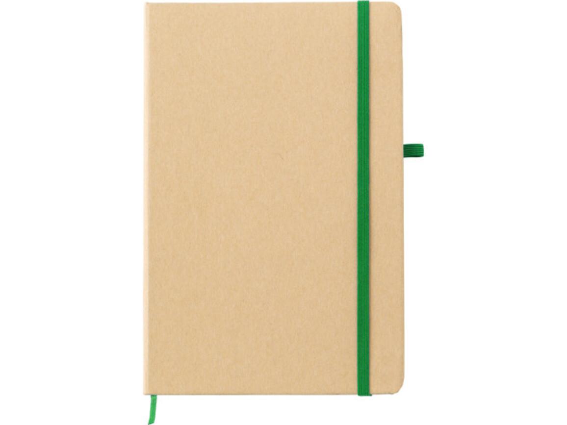 Notizbuch 'Closing' aus Papier – Grün bedrucken, Art.-Nr. 004999999_9144
