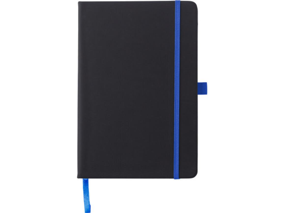 Notizbuch 'Regenbogen' aus Kunststoff – Kobaltblau bedrucken, Art.-Nr. 023999999_8384