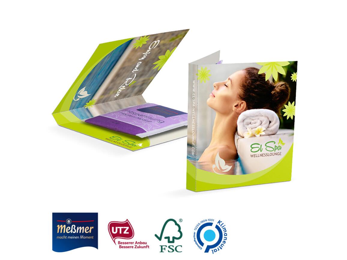 Werbekarte Midi Meßmer Teebeutel Entspannung bedrucken, Art.-Nr. 1144.00005