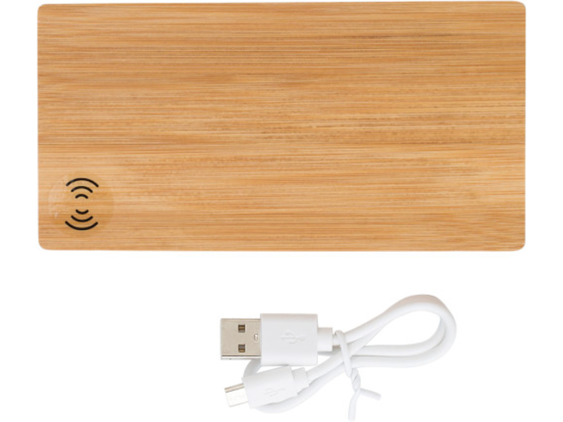 Powerbank 'Bamboo Power 2' aus Bambus – Braun bedrucken, Art.-Nr. 011999999_9148