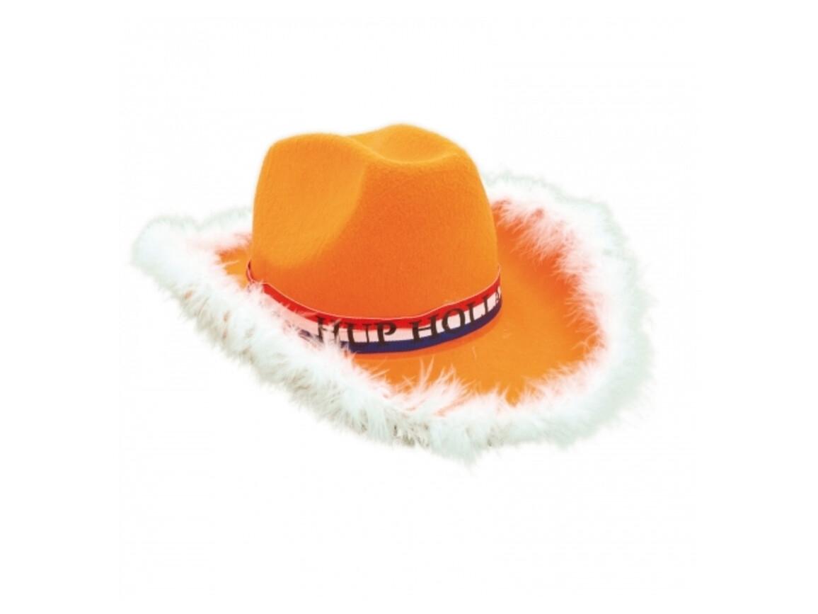 Cowboyhut Damen - Orange bedrucken, Art.-Nr. LT16604-N0026