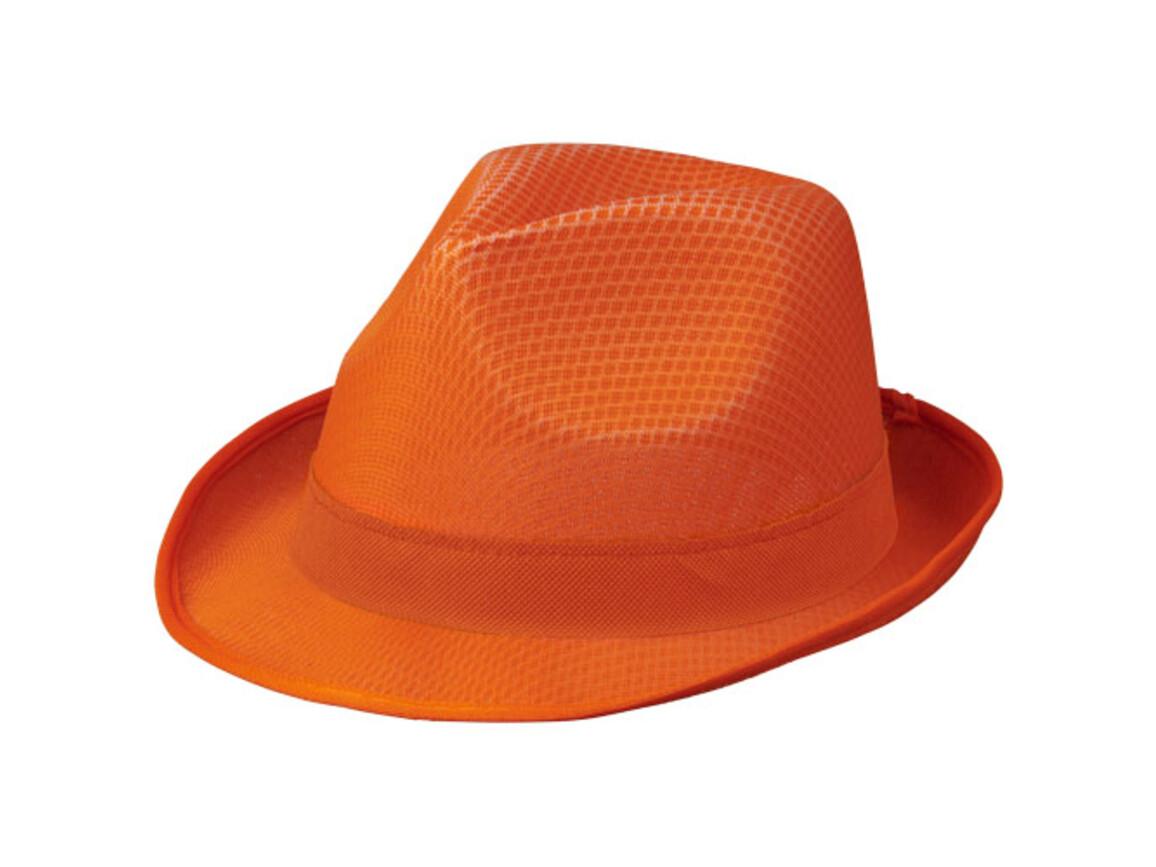 Tribly Hut mit Band, orange bedrucken, Art.-Nr. 11107044