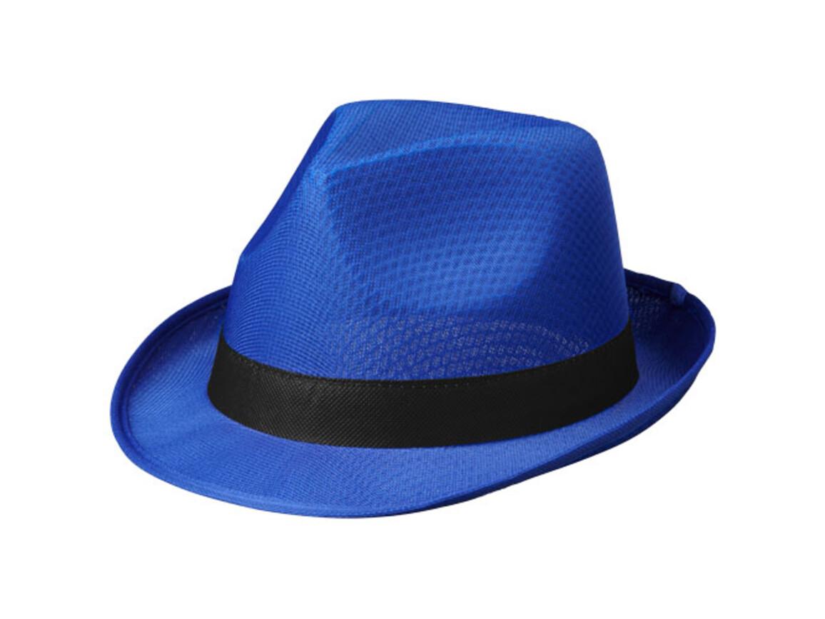 Tribly Hut mit Band, blau, schwarz bedrucken, Art.-Nr. 11107052