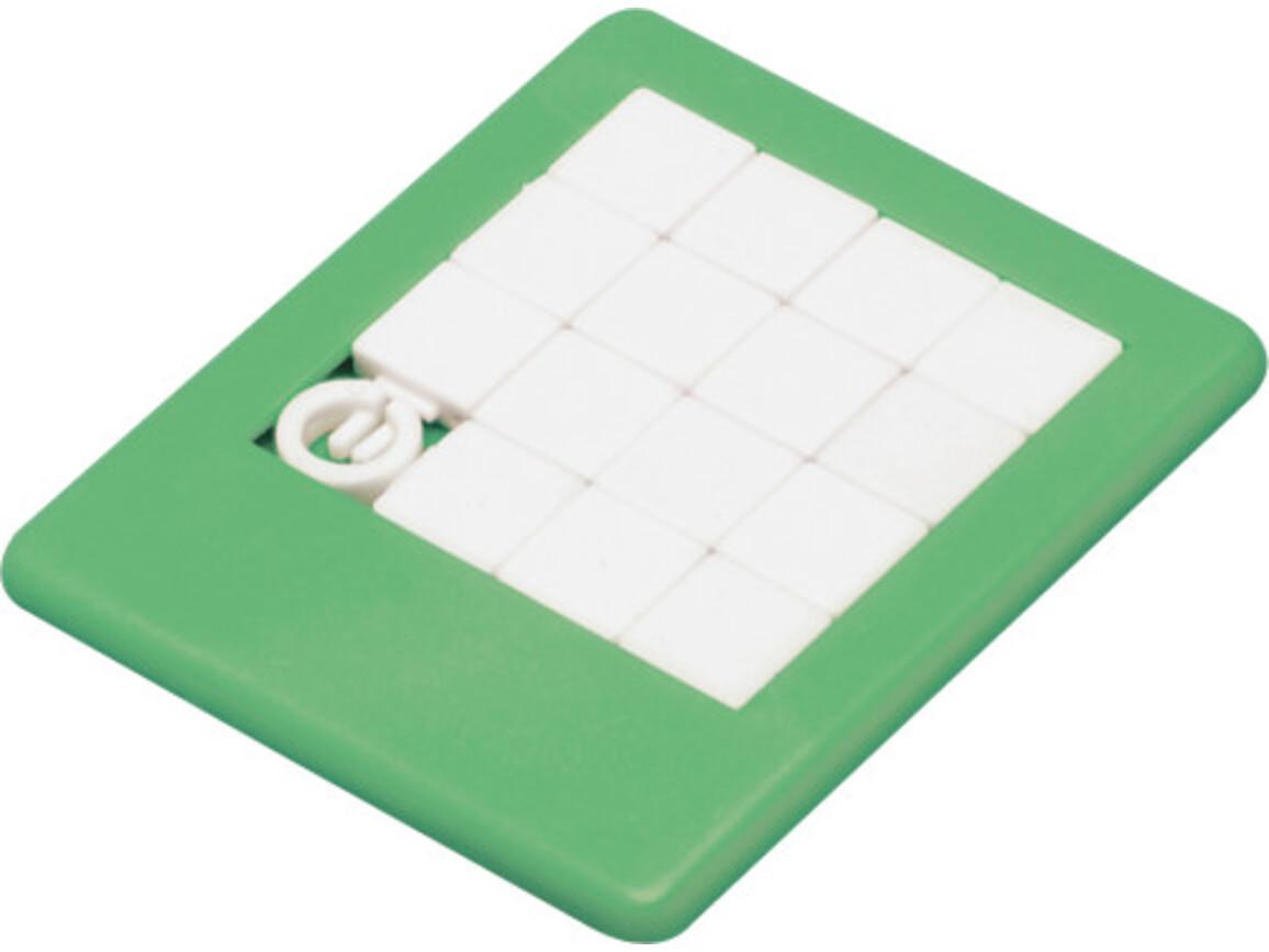 Plastic sliding puzzle – Grün bedrucken, Art.-Nr. 004999999_2302