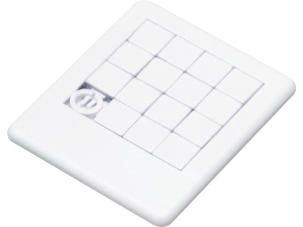 Plastic sliding puzzle – Weiß bedrucken, Art.-Nr. 002999999_2302