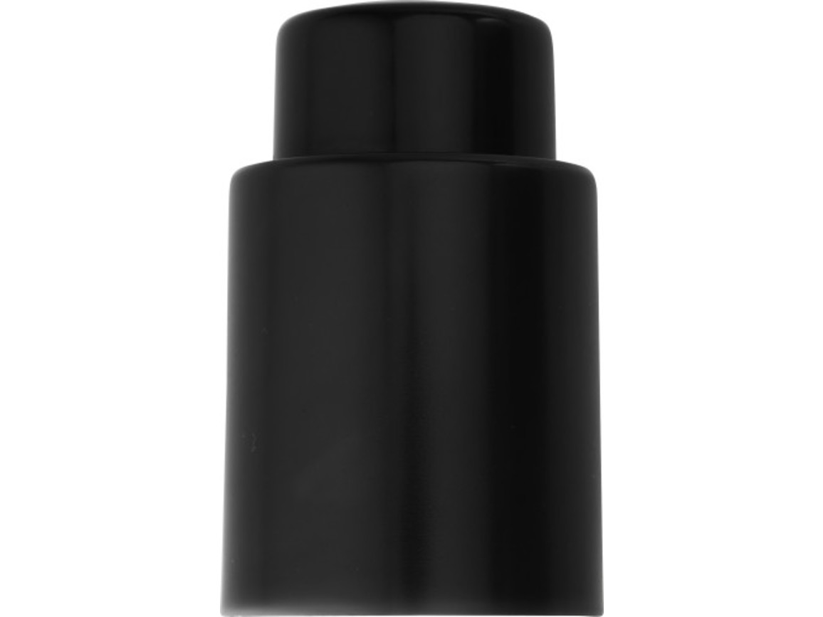 Flaschenverschluss 'Nizza' aus Kunststoff – Schwarz bedrucken, Art.-Nr. 001999999_6732