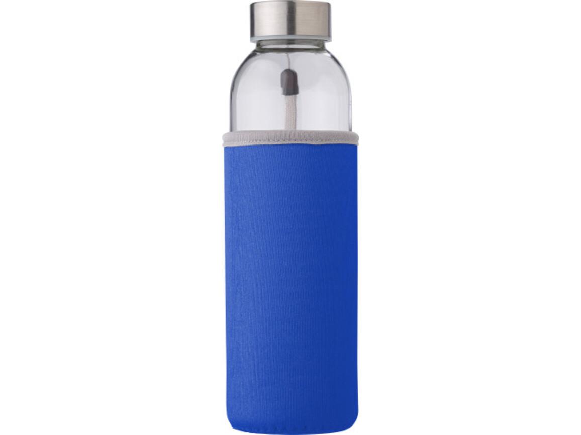 """Glasflasche """"Neo"""" (500ml) mit einem Neoprenhülle – Kobaltblau bedrucken, Art.-Nr. 023999999_9301"""