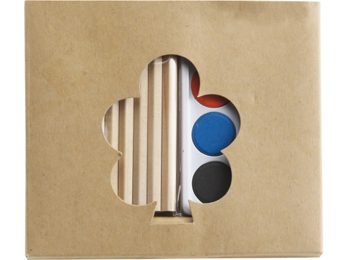 Kindermal-Set 'Creative', 3-tlg. – Braun bedrucken, Art.-Nr. 011999999_2226